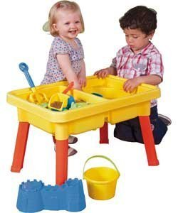 CHIMAERA Multi-Play 2-in-1 Sandbox / Sand and Water Table with Beach Playset by CHIMAERA (Image #8)