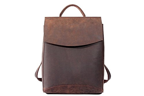 HandMadeCart Handcrafted Vintage Style Top Grain Leather Backpack Travel Backpack Unisex Backpack 8904 by HandMadeCart