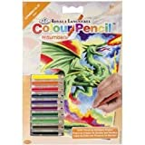 """ROYAL BRUSH Mini Color Dragon Pencil by Number Kit, 5"""" by 7"""""""