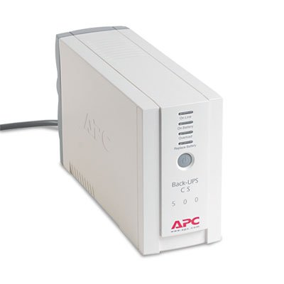 Back-UPS CS Battery Backup System Six-Outlet 500 Volt-Amps, Sold as 1 Each by APC