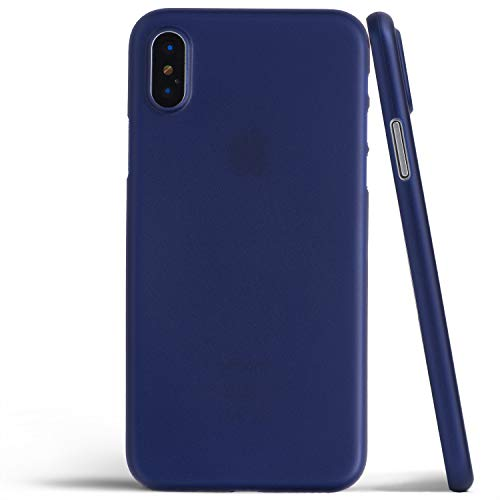 totallee iPhone X Case, Thinnest Cover Premium Fit Ultra Thin Light Slim Minimal Anti-Scratch Protective - for Apple iPhone X (2017) (Navy Blue)