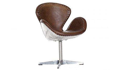 Luxus Art Deco Schreibtisch Stuhl Echtleder Braun