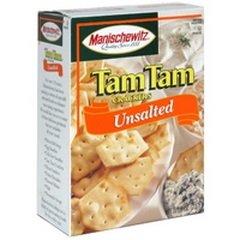 Manischewitz Unsalted Tam Tams Snack Cracker, 9.6 Ounce - 12 per case.