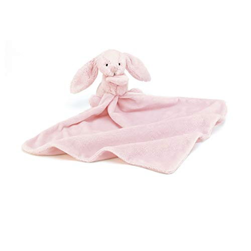Jellycat Bashful Pink Bunny Baby Security Blanket]()