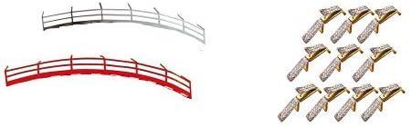 Carrera GO 20061651 - Leitplanke Fahrzeugzubehör, 10 Stück & 20061510 Double Sliding Contact 10 Doppelschleifer Spielspaß, Mehrfarbig Stück