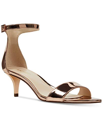(Nine West Womens Leisa Open Toe Casual Ankle Strap Sandals, Gold, Size 6.0)