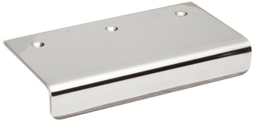 Sugatsune SND 304 Stainless Steel Edge Pull Handle, Mirror Finish, Threaded Holes,  Rectangular Grip, 3-35/64'' Center To Center, 2-3/8'' Projection (Pack of 1) by LAMP by Sugatsune