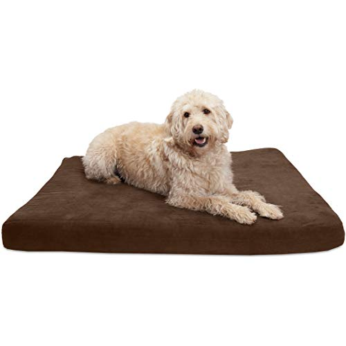 - FurHaven Pet Dog Bed | Deluxe Orthopedic Quilted Suede Mattress Pet Bed for Dogs & Cats, Espresso, Jumbo