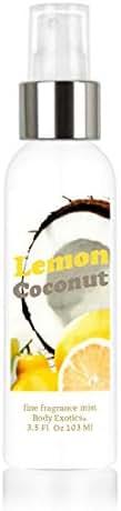 Lemon Coconut Perfume Fine Fragrance Mist by Body Exotics 3.5 Fl Oz 103 Ml ~ an Irresistible Blend of Lemon Fresh