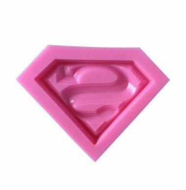 Superman Superhero (Super Hero) Symbol Silicone Mold - Custom Silicone Molds from Bakell]()