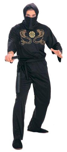 Rubie's Costume Deluxe Adult Ninja Costume, Black, Medium (Mens Ninja Costume)