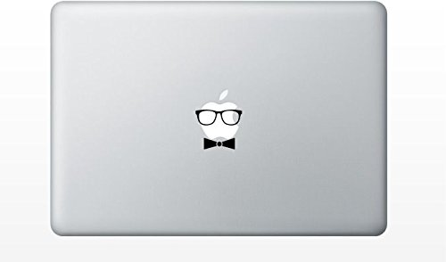 Macbook glasses and bowtie decal sticker pro air 11 13 15 17