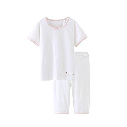 Kids Girls' Pajamas Children Kids Summer Sleepwear Cotton Short Pajamas Set by HOYMN