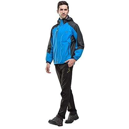 YSENTO Mens Lightweight Waterproof Jacket Windproof Outdoor Camping Hiking Mountain Jacket Coat with Hood 6