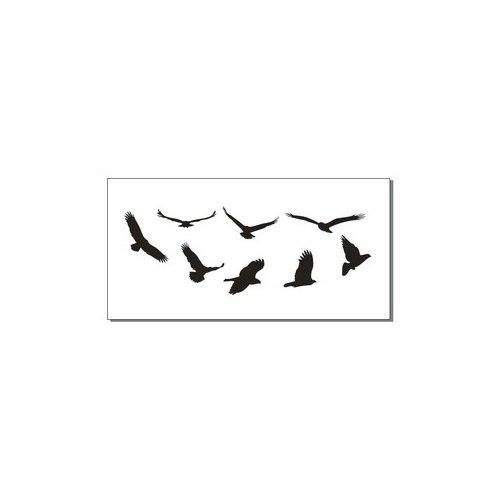 2 x Bird silueta de la muñeca de la piel Transfer de Tatuaje ...