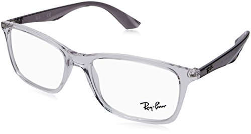 Ray-Ban RX7047 Rectangular Eyeglass Frames, Transparent/Demo Lens, 56 ()