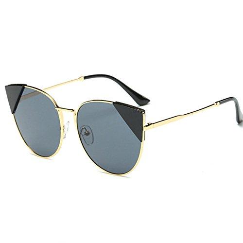 Aoligei À la mode européenne et américaine réflectorisé Dame marée personnes centaines tour lunettes de soleil rue shoot mode Glasse S homme o3F0NZES