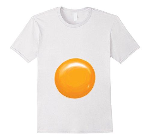 Simple Guy Costumes For Halloween (Mens Fried Egg Halloween Costume Shirt - Egg Yolk Medium White)