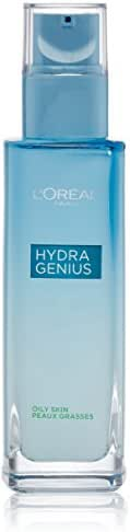 L'Oreal Paris Skincare Hydra Genius Daily Liquid Care Oil-Free Face Moisturizer for Normal to Oily Skin with Aloe Water and Hyaluronic 3.04 fl. oz.