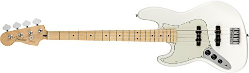Fender Player Jazz Electric Bass Guitar – Maple LH Fingerboard – Polar White