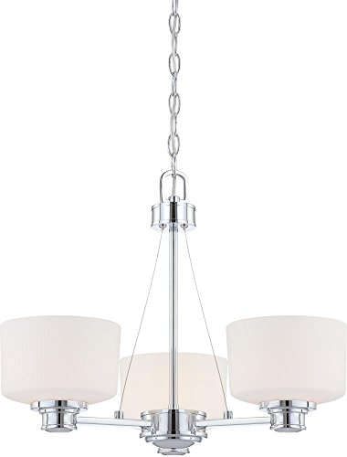 Nuvo 60/4587 Soho Polished Chrome Three Light (Polished Chrome Mini Chandelier)