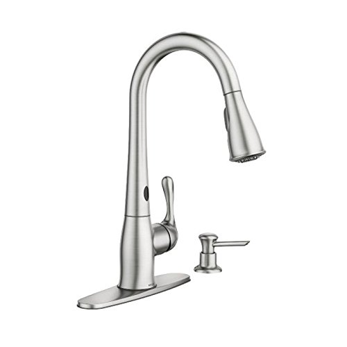 Moen 87340ESRS Ridgedale One-Handle High Arc Pulldown Kitchen Faucet, Spot Resist Stainless