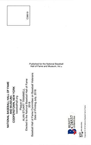 ALAN TRAMMELL AUTOGRAPHED HOF POSTCARD DETROIT TIGERS BECKETT BAS STOCK #137993