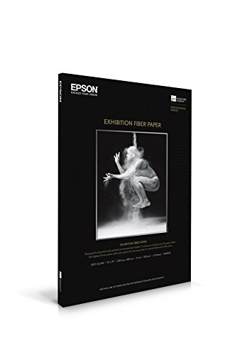 Epson Professional Media Exhibition Fiber Paper (13x19 Inches, 25 Sheets) (S045037) 19in 25 Sheets