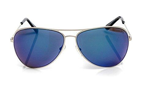 Aviateur Couleurs soleil Bleu Different 100 Métal de UV400 Cadre Lunettes Protection Classique v74UtxT