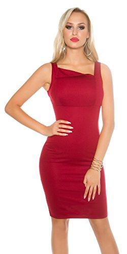 In-Stylefashion - Vestido - Estuche - para mujer rojo oscuro