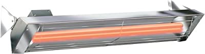 Infratech WD4024SS Dual Element 4,000 Watt Electric Patio Heater, Choose Finish: Stainless Steel
