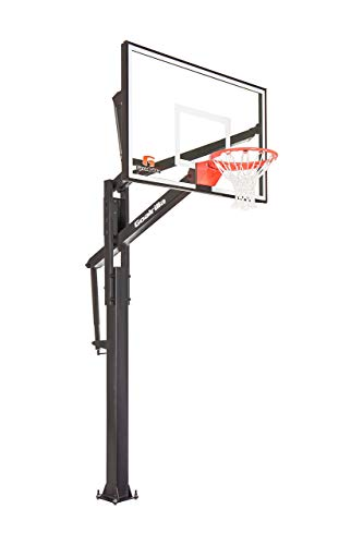 Goalrilla FT60 Basketball Hoop with Tempered Glass Backboard, Black Anodized Frame, and In-ground Anchor System (Renewed)