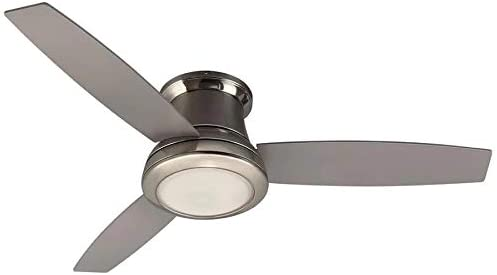 Harbor Breeze Sail Stream 52-in Brushed Nickel LED Indoor Flush mount Ceiling Fan