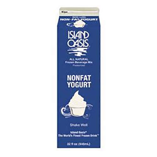 Island Oasis Non Fat Yogurt, 32 Ounce -- 12 per case.