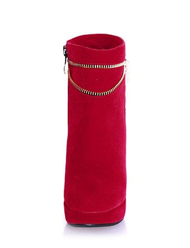 Moda Uk7 Punta Negro Mujer Stiletto Black Red Xzz De Sintético Rojo A us9 Vestido Botas La Tacón Cn41 us9 Redonda Casual Zapatos Ante Eu40 wSRxvqpX