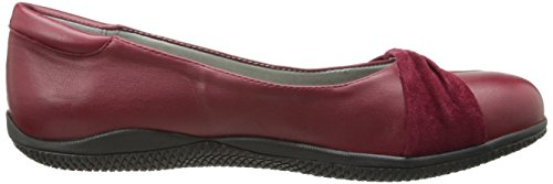 Softwalk Womens Haverhill Ballet Plat Foncé Rouge