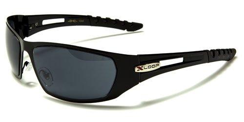 X-Loop Sonnnenbrillen mit Etui - Golf - Sport - Metall Sonnenbrillen - UV400 Mit Brillenetui / Vault
