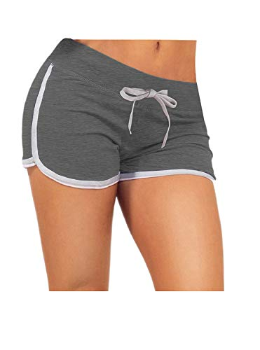 ZITY Sexy Booty Dolphin Shorts Sports Gym Workout Yoga Hot Pants Dark Grey M ()