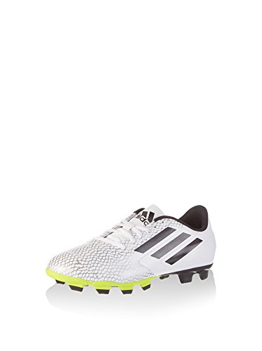 adidas Conquisto, Botas de Fútbol Unisex-Niño, Blanco/Amarillo Flúor, 41 1/3 EU