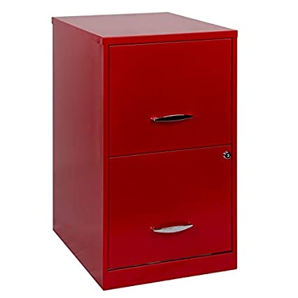 Magnificent Hirsh Soho 18 In Deep 2 Drawer Smart File Cabinet In Red Interior Design Ideas Pimpapslepicentreinfo