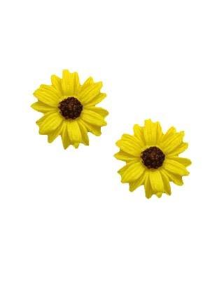 Sienna Sky Yellow Sunflower Post Earrings 1800