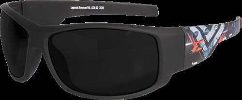 (Edge Eyewear Legends Boneyard Glasses, Matte Black & Gray Frame/Smoke Vapor Shield Lens)