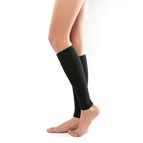 Calcetines de compresión caña ancha mujeres–1par 2018Otoño Invierno Mujer Hombre Medical pierna de apoyo...