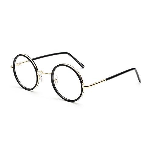 39db2115e1 Nuevo BOZEVON Unisexo Clásico Mujer Hombre Moda Retro Redondo Gafas Montura  para Gafas