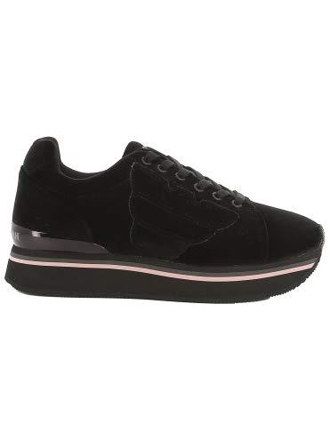 Emporio Armani - Zapatillas de Ante para Mujer Negro Negro Negro Size: 35 EU: Amazon.es: Zapatos y complementos