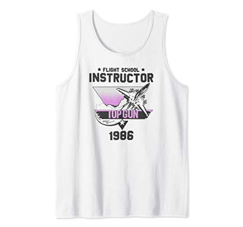 Top Gun Flight School Instructor 1986 Tank Top for Men or Women in 4 Colors