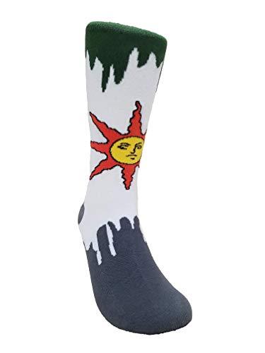 Dark Souls Solaire Sock, Video Game Sock, Playstation Xbox Cotton Crew Sock, Warrior of Sunlight Apparel, Dark Souls 3 Game Merchandise (Best Jackass Moments Ever)