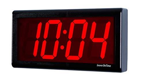 (Inova Solutions Digital Ethernet Network Clock - Black Plastic - 4 Red LED)