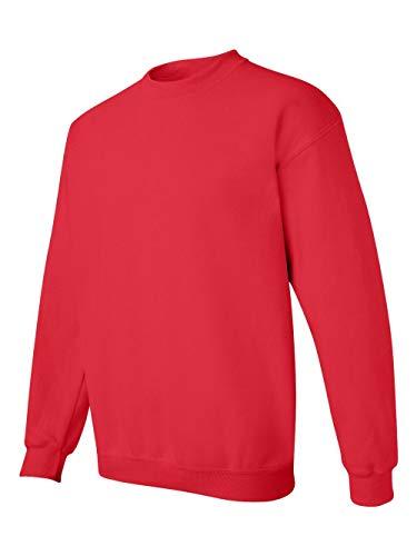 Gildan Men's Heavy Blend Crewneck Sweatshirt - Small - Red