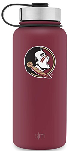 Florida State Seminoles Bottle - Simple Modern 32oz Summit Water Bottle - Florida State Seminoles Vacuum Insulated 18/8 Stainless Steel Travel Mug - Florida State
